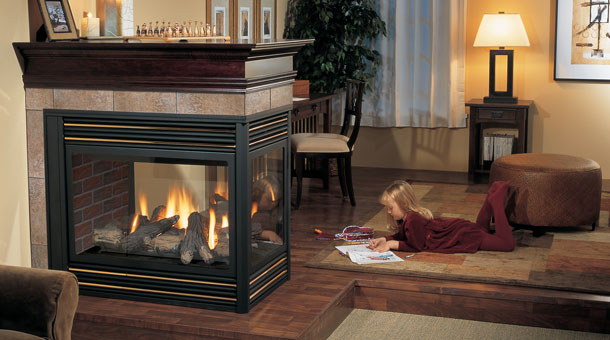 Regency panorama p131 three sided gas fireplace joe 39 s for Three way fireplace